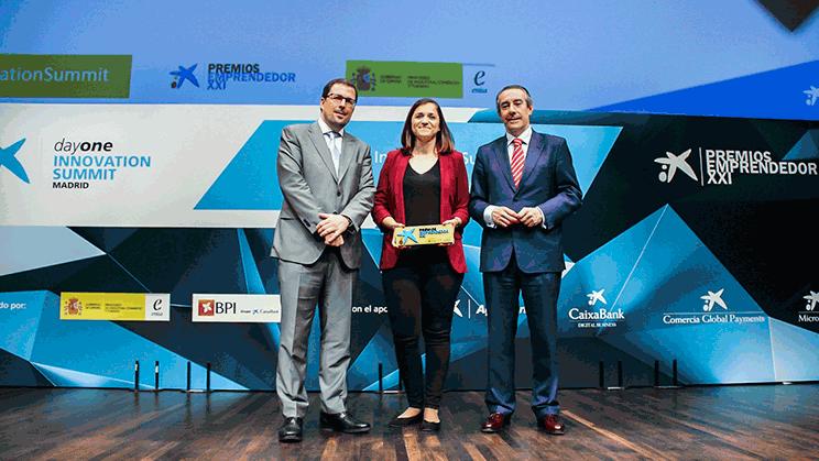 Judit Cubedo, CEO de GlyCardial, empresa guanyadora del Premi EmprenedorXXI a Catalunya.