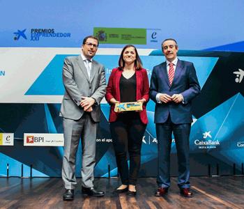 Judit Cubedo, CEO de GlyCardial, empresa ganadora de los Premios EmprendedorXXI en Cataluña.