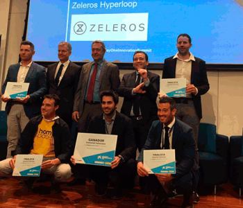 Juan Vicén, cofundador i CMO de Zeleros, empresa que desenvolupa el sistema de transport Hyperloop a Espanya, guanyadora dels Premis EmprenedorXXI a la Comunitat Valenciana.